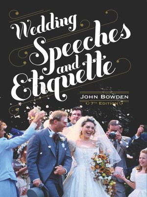cover image of Wedding Speeches and Etiquette