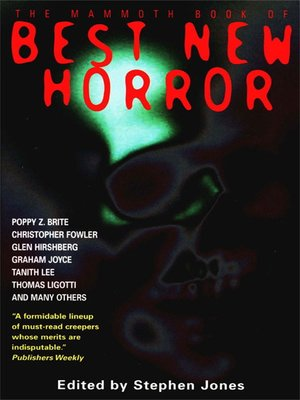 cover image of The Mammoth Book of Best New Horror 2002, Volume 13