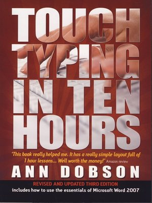cover image of Touch Typing in Ten Hours