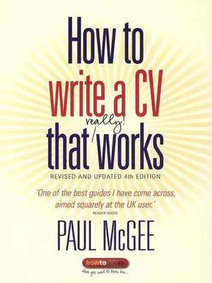 cover image of How to write a CV that really works