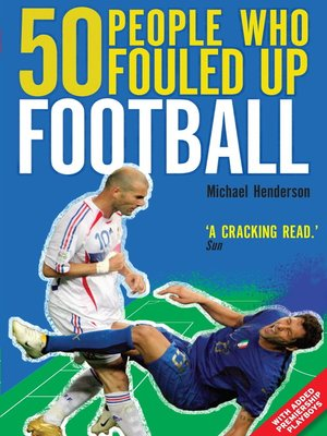 cover image of 50 People Who Fouled Up Football