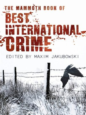 cover image of The Mammoth Book Best International Crime