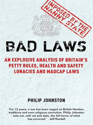 cover image of Bad Laws