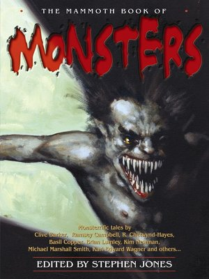 cover image of The Mammoth Book of Monsters