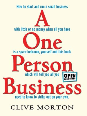 cover image of One Person Business