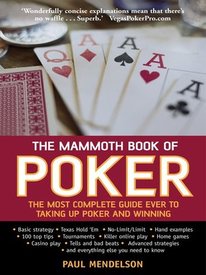 cover image of The Mammoth Book of Poker