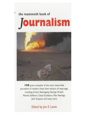 cover image of The Mammoth Book of Journalism
