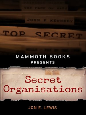 cover image of Mammoth Books presents Secret Organisations