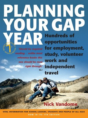 cover image of Planning Your Gap Year