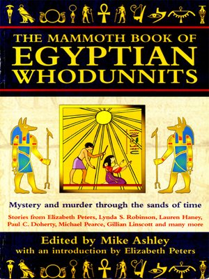 cover image of The Mammoth Book of Egyptian Whodunnits
