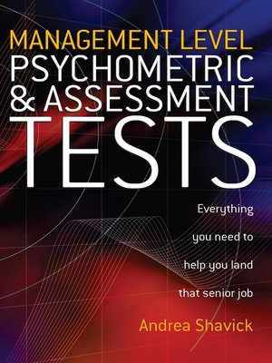 cover image of Management Level Psychometric and Assessment Tests