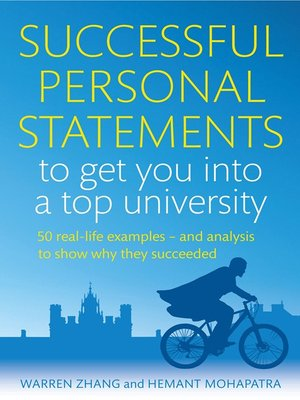 cover image of Successful Personal Statements to Get You into a Top University