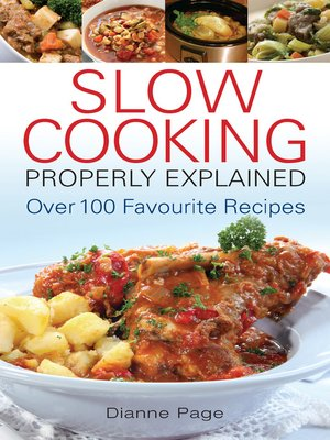cover image of Slow Cooking Properly Explained