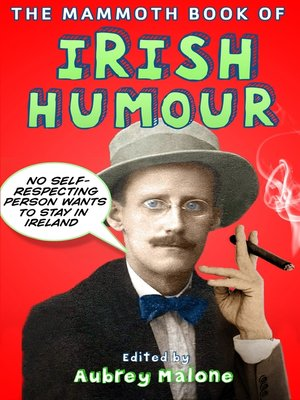 cover image of The Mammoth Book of Irish Humour
