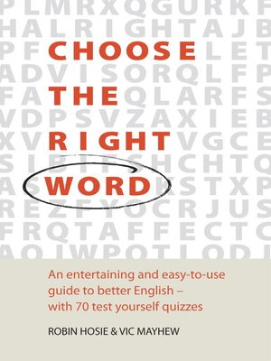 cover image of Choose the Right Word