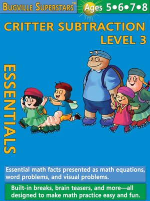 cover image of Critter Subtraction Essentials Level 3