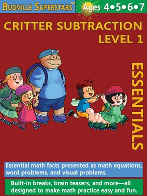 cover image of Critter Subtraction Essentials Level 1