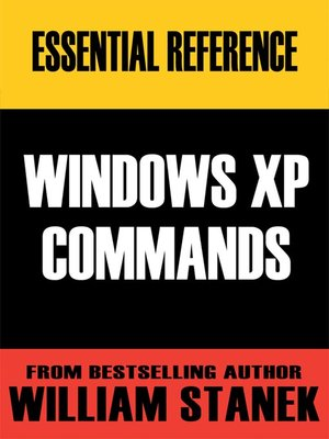 cover image of Essential Windows XP Commands Reference
