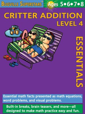cover image of Critter Addition Essentials Level 4