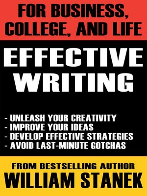 cover image of Effective Writing for Business, College, and Life