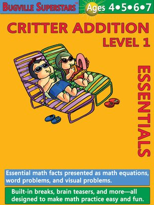 cover image of Critter Addition Essentials Level 1