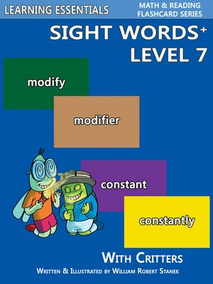 cover image of Sight Words Plus Level 7