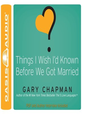 cover image of Things I Wish I'd Known Before We Got Married