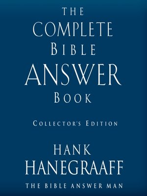 cover image of The Complete Bible Answer Book