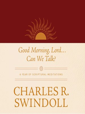 cover image of Good Morning, Lord . . . Can We Talk?