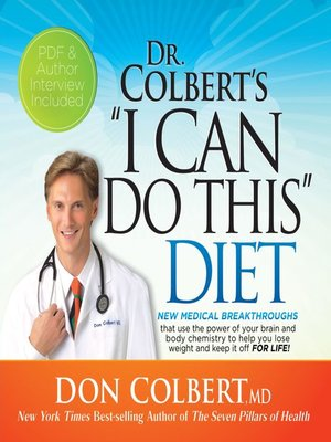"cover image of Dr. Colbert's ""I Can Do This"" Diet"