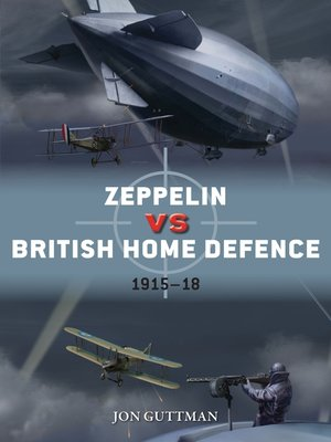 cover image of Zeppelin vs British Home Defence 1915–18