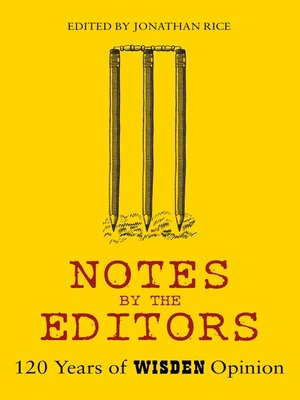 cover image of Notes by the Editors
