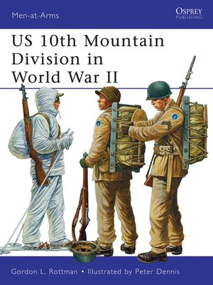 cover image of US 10th Mountain Division in World War II