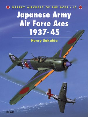cover image of Japanese Army Air Force Aces 1937–45