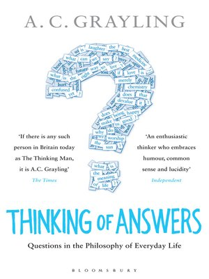 cover image of Thinking of Answers