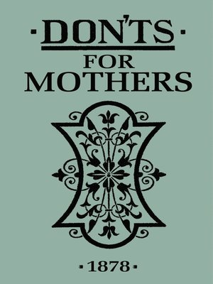 cover image of Don'ts for Mothers