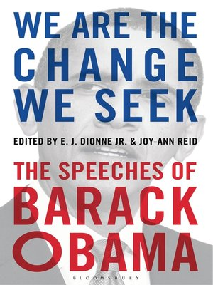 We Are the Change We Seek by E J  Dionne Jr  · OverDrive