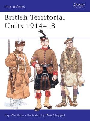 cover image of British Territorial Units 1914–18