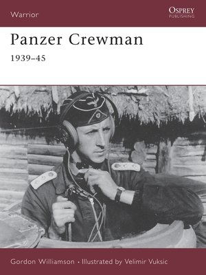 cover image of Panzer Crewman 1939–45