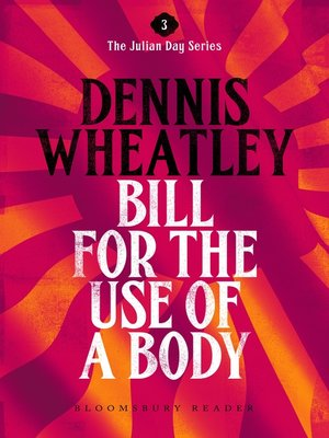 cover image of Bill for the Use of a Body