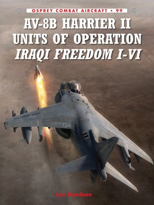 cover image of AV-8B Harrier II Units of Operation Iraqi Freedom I-VI
