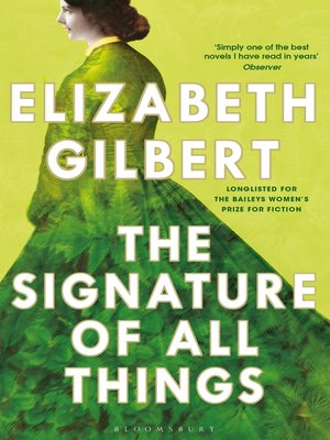 cover image of The Signature of All Things