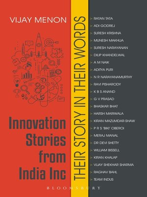 cover image of Innovation Stories from India Inc