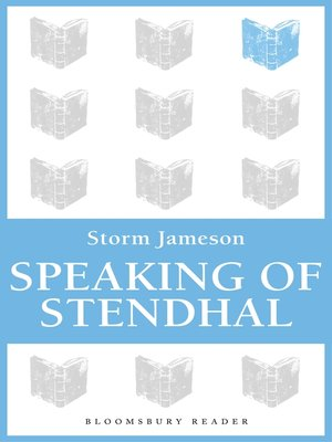 cover image of Speaking of Stendhal