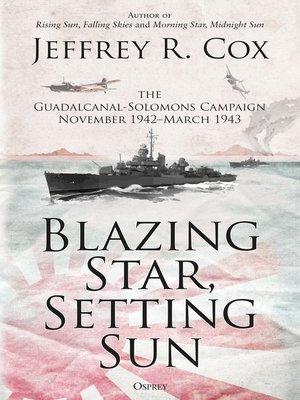 cover image of Blazing Star, Setting Sun