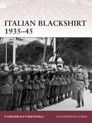cover image of Italian Blackshirt 1935-45