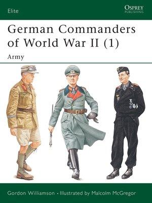 cover image of German Commanders of World War II (1)