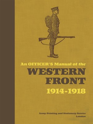 cover image of An Officer's Manual of the Western Front