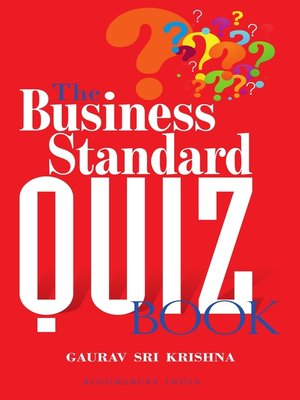 cover image of The Business Standard Quiz Book