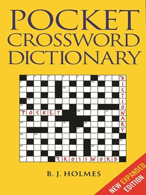 cover image of Pocket Crossword Dictionary